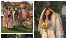"""ЕКСКЛУЗИВНО В ПИК! """"Мис България"""" Райна Налджиева се омъжи с цепка до пъпа! Вижте кой е младоженецът (СУПЕР СНИМКИ + ВИДЕО)"""
