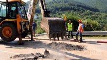 АПИ отлага преасфалтирането на участъка от пътя Своге-София за 7 септември