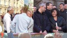 ПЪРВО В ПИК! Човек на Нинова се яви на протеста
