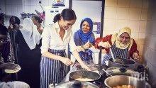 Меган сготви за семействата на загиналите при пожар (СНИМКИ)