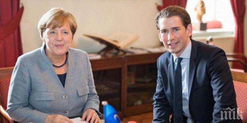ОБЕДИНЕНИЕ! Меркел и Курц не искат твърд Брекзит