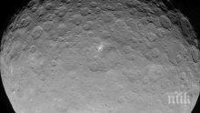 Американски учени установиха, че планетата-джудже Церера е покрита с вулкани, от които е изригвал лед
