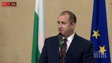 Президентът Радев отправи призив за национално единение