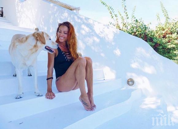 ВАКАНЦИЯ! Ивет Лалова събира тен на гръцки остров (СНИМКИ)