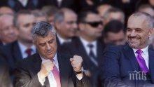 Хашим Тачи и Еди Рама на среща в Женева, договарят границите на Косово
