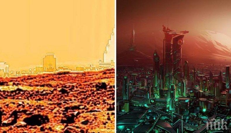 СЕНЗАЦИОННО! Уфолог откри градове на Марс (ВИДЕО)