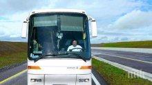 ШОК! Автобус с деца се запали в движение край Слънчев бряг