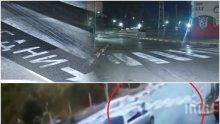 ШОКИРАЩО ВИДЕО! Eто как колата помете 19-годишното момче на пешеходна пътека в Своге