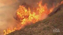 Пожар след разклона за Банкя! Горят стърнища, няма опасност за сгради и хора