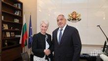 Премиерът Борисов се срещна с посланика на Великобритания Ема Хопкинс