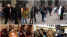 """РАЗКРИТИЕ НА ПИК: Протестиращи срещу 50 лв., бира и сандвич позират пред новинарските емисии със """"смелите майки"""" - Берберян, Кулеков и жените на БСП-активисти викат срещу властта (СНИМКИ/ВИДЕО)"""