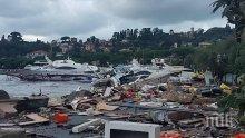 ШОКИРАЩО ВИДЕО: Бедствие в Италия - крайбрежието на Лигурия се превърна в гробище за яхти (СНИМКИ)