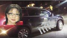 """САМО В ПИК И """"РЕТРО"""": Цветанка Ризова паркира като мутреса - водещата качва джипа си по тротоарите, едва не гази пешеходци (ПАПАРАШКИ СНИМКИ)"""