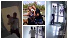 ИЗВЪНРЕДНО: Охранителна камера разкрива как убиецът Викторио бяга с малката Никол (СНИМКИ/ВИДЕО)