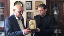 """Илиан Тодоров и шефът на дирекция """"Вероизповедания"""" Емил Велинов обединяват усилия за връщането на българските църковни имоти до Божи  гроб"""