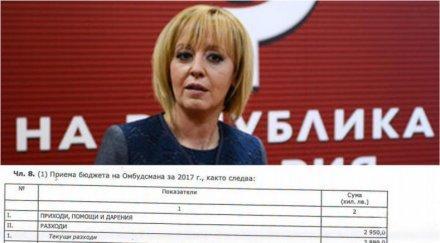 РАЗКРИТИЕ НА ПИК: Мая Манолова с бюджет от 3 млн. лева, държавата й дава още (ДОКУМЕНТИ)