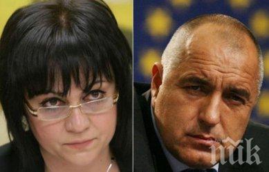 """САМО В ПИК! Борисов и ГЕРБ отвяват Нинова - 42% за управляващата партия, двойно по-малко за БСП. """"Галъп"""": Правителството да не подава оставка (ГРАФИКА)"""