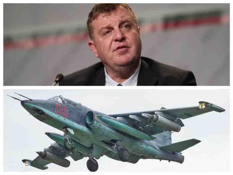 ИЗВЪНРЕДНО В ПИК: Каракачанов внезапно отмени поръчката за ремонт на Су-25