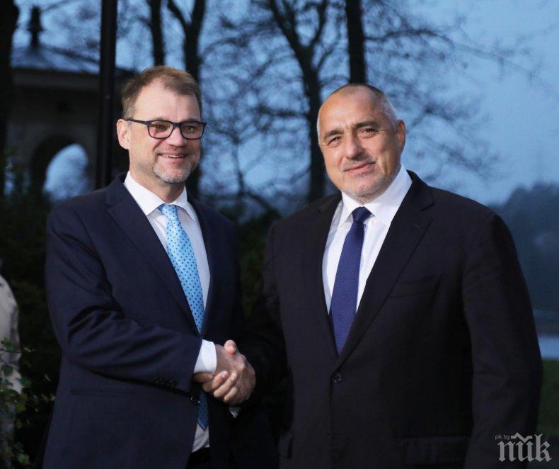 ПЪРВО В ПИК TV: Започна важната среща на Борисов с премиера на Финландия - ето какво си казаха с Юха Сипиля (ОБНОВЕНА/СНИМКИ)