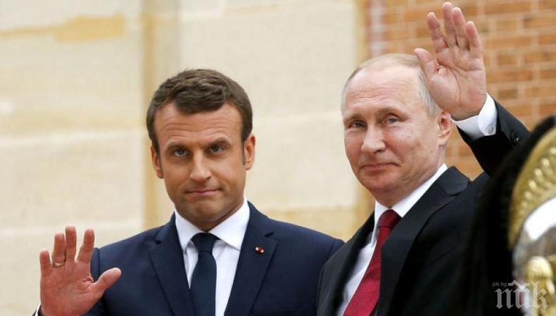 Путин подкрепи Макрон за създаването на европейска армия