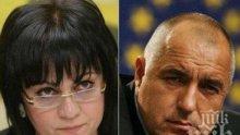 """""""Маркет линкс"""": ГЕРБ бие БСП на парламентарен вот - 19.4% гласуват за партията на Борисов, 17.3% -за Корнелия"""