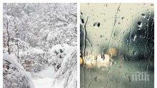 ЗИМАТА СЕ ЗАВРЪЩА: Сняг, дъжд и студ обхващат страната през новата седмица