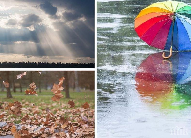 Опасно време: Идва много дъжд. Жълт код за седем области в страната (КАРТА)