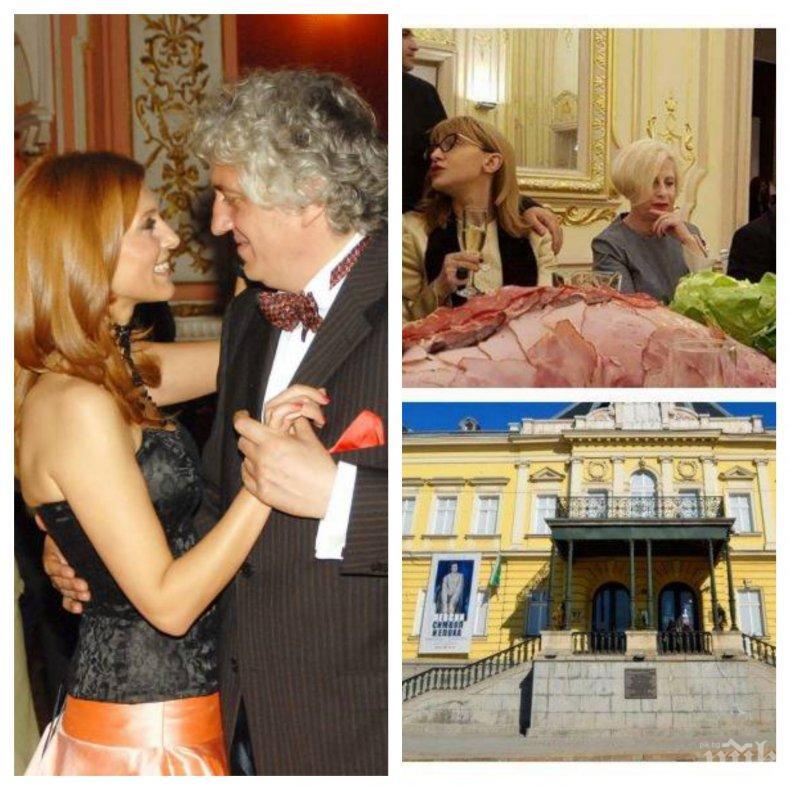 """Гого Лозанов и жена му изкльопали най-много на """"голямото плюскане"""" в Националната галерия. Министър Банов мълчи за скандала"""