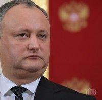 Президентът на Молдова се надява на мирно урегулиране на конфликта между Русия и Украйна