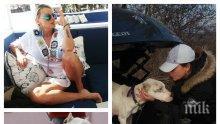 """ДОБРИЯТ ПРИМЕР: Ели Владкова от """"Биг Брадър"""" спаси от сигурна смърт отглеждано за разплод куче (СНИМКИ)"""