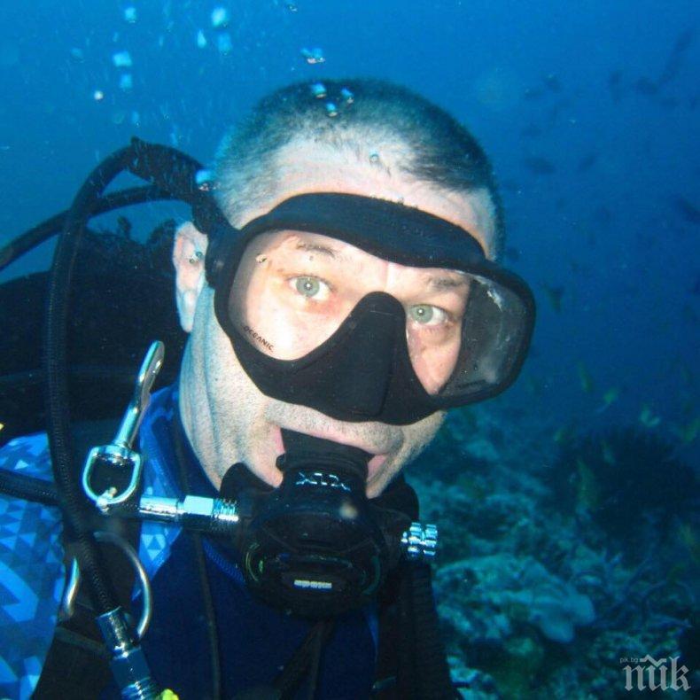 САМО В ПИК: Каролев се гмурка в опасна близост с акули на Малдивите (ВИДЕО)