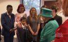 ШАШ: Момченце избяга уплашено от кралица Елизабет (ВИДЕО)