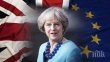 КОЛАПС: Тереза Мей трепери, Брекзит може да й коства главата