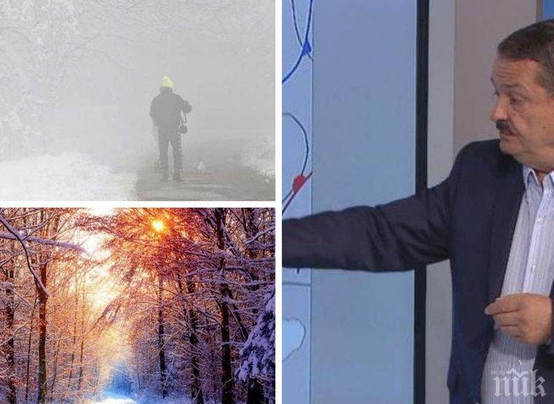 ПРОГНОЗА В АВАНС: Проф. Георги Рачев разкрива какво време ни очаква за празниците