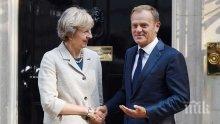 """""""Индипендънт"""": Председателят на Европейският съвет Доналд Туск заяви, че """"няма да има предоговаряне на сделката"""" за Брекзит"""