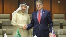 На четири очи: Министрите на енергетиката на САЩ и Саудитска Арабия обсъдиха нефтения пазар