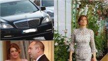 ЕКСКЛУЗИВНО: Генерал Деси пак на пазар с лимузината на НСО (СНИМКИ)