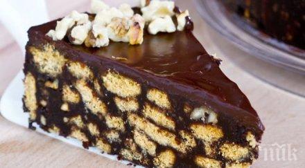 Икономична шоколадова торта