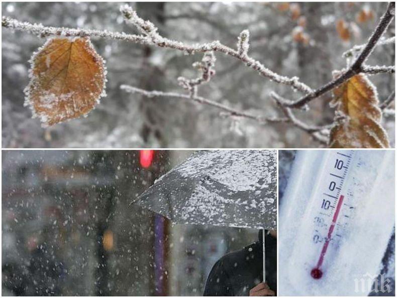 ЗИМАТА СЕ РАЗВИХРЯ: Леден вятър и дъжд ще ни тормозят днес - ето с колко падат температурите