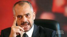 Еди Рама не приема искането на Косово да е суверенна държава