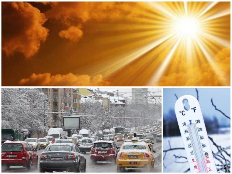 ПРЕДКОЛЕДНО СЛЪНЦЕ: Времето се затопля, валежите спират, температурите стигат до 8 градуса