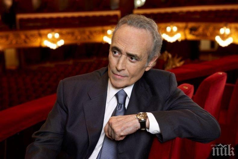 """Хосе Карерас избра оркестъра на Софийска опера и балет за концерта в """"Арена Армеец"""""""