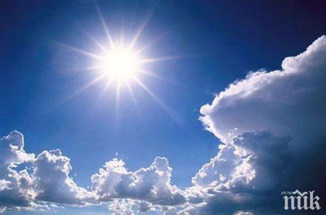 СУПЕР НОВИНА ЗА ВРЕМЕТО: Слънце в края на работната седмица, температурите скачат до 10 градуса