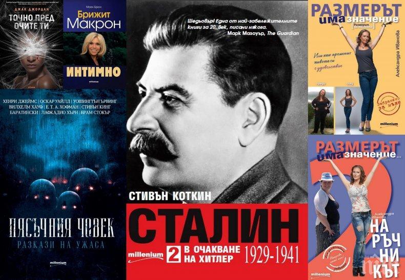 """Топ 5 на най-продаваните книги на издателство """"Милениум"""" (24-30 декември)"""