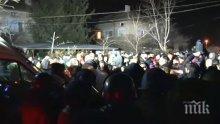 Над 200 души протестират във Войводиново заради пребития военен от Спецсилите