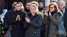 РАЗТЪРСВАЩИ СНИМКИ: Алекс Сърчаджиева плаче неутешимо до ковчега на Иван Ласкин (ГАЛЕРИЯ)
