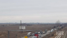 ОТ ПОСЛЕДНИТЕ МИНУТИ: Катастрофа затапи Околовръстното на Пловдив (СНИМКА)