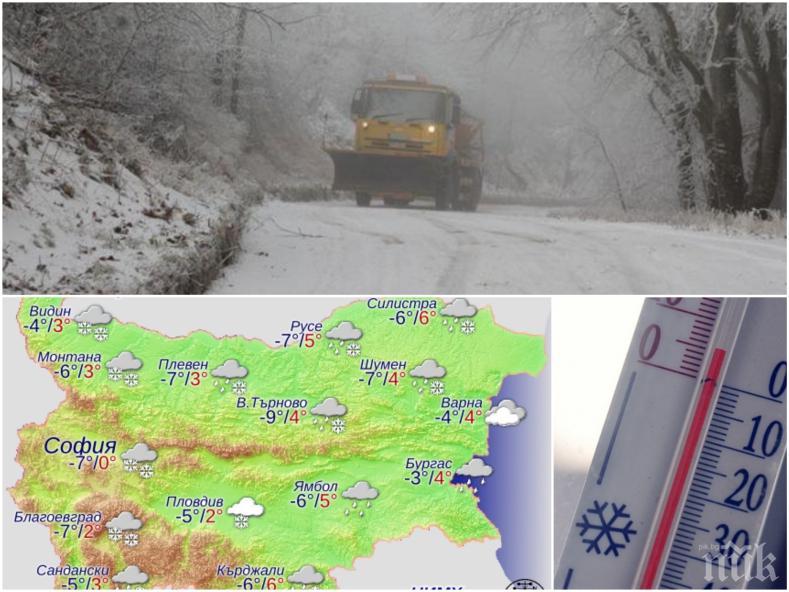 ЛЮТА ЗИМА: Снеговалежи връхлитат България, има опасност от заледявания