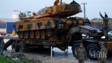 Напрежението расте: Турция продължава да струпва войски по границата със Сирия