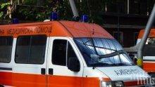Полицай е в болница със счупена ключица след катастрофа край Монтана